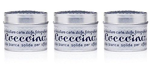 Coccoina Herbst Angebot Klebedose Sparpack mit 3 Stück, Bastelkleber, Kultkleber seit 1927, Blechdose mit Pinsel, lösungsmittelfrei, je 125 g