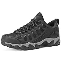 CAMEL CROWN Hiking Shoes Men High-Traction Low-top Walking Shoes Breathable Sneakers for Outdoor Trekking Traveling Black 11