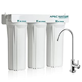APEC WFS-1000 Super Capacity Premium Quality 3 Stage Under-Sink Water Filter System by APEC Water Systems