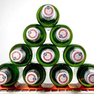 Mode Flaschenhalter/ Flaschenregal Fridge Monkey blau- Stapelhilfe für Flaschen und Dosen - Kühlschrank-organizer - Biergadget für Grillen und Garten - Weinständer - Getränkehalter - Party-Deko