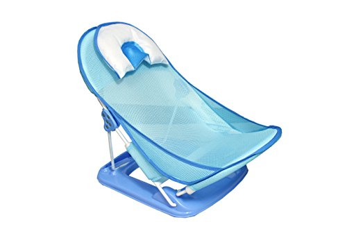 Deluxe Baby Bather with Removable Head Support Cushion Infant Bath Aid Todler -blue
