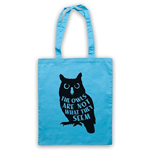 Inspiriert durch Twin Peaks The Owls Are Not What They Seem Inoffiziell Umhangetaschen Hellblau