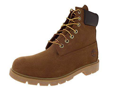 Timberland Mens 6-Inch Basic Waterproof Leather Boots Rust