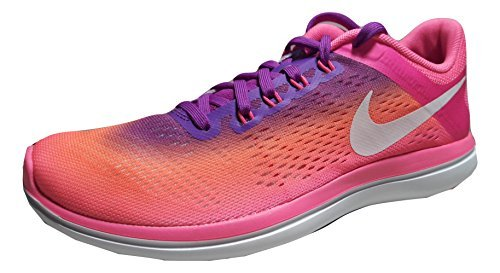 Nike Womens Flex Run 2016 Running Shoes (6.5 B(M) US, Pink Blast/White/Bright Mango/Hyper Rose - Nike Flex Schuhe Run Womens