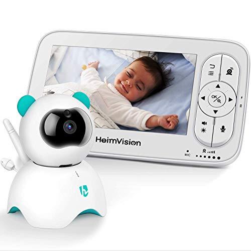 HeimVision HM136 Babyphone mit Kamera, Baby Monitor, 5 Zoll LCD Video Monitor, HD 720P, Zwei Wege Audio, Temperatur Alarm und akustischer Alarm, Nachtsicht, VOX, Schlaflied, bis zu 1000 Fuß