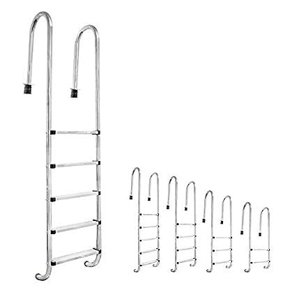 V2Aox acero inoxidable escalera de piscina pool piscina escalera 2-5 escalones, Número de escalones:2-etapas (133 x 50 cm)