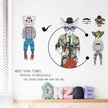 Personalità adesivi murali creativi adesivi murali autoadesivi soggiorno studio ristorante decorazione arte adesivi animali stile europeo e americano adesivi autoadesivi rimovibili personalità tren