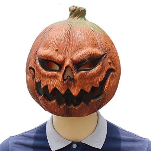 YuStar Halloween-/Cosplay-/Make-up-Kostüm, Kürbis-Maske aus Latex