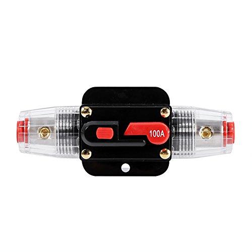 Auto-disjoncteur de réinitialisation de l'inverseur de fusibles pour la voiture Marine système de bateau de protection-12V-24V (Taille : 100A)