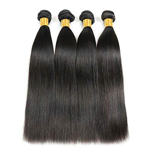 Ladiary capelli veri umani lisci 400g capelli brasiliani vergini kann essere tinti e restyling extension tessitura capelli veri naturale colorati human hair 30cm 35cm 40cm 45cm