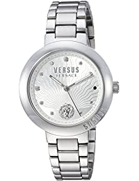 Versus by Versace Women's 'LANTAU ISLAND' Quartz Stainless Steel Casual Watch, Color:Silver-Toned (Model: VSP370417)