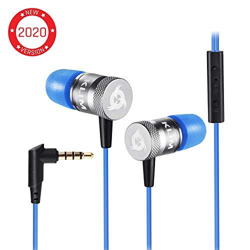 KLIM Fusion Audio Kopfhörer - Langlebig + Innovativ: In-Ear-Kopfhörer mit Memory Foam [ Neue 2019 Version ] Blau