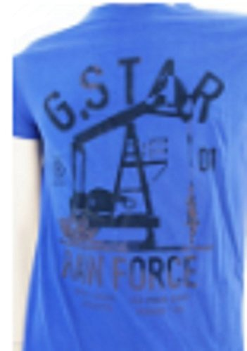 "G Star ""Raw"" Forza Graphic a maniche corte in puro cotone t shirt Blue Small"