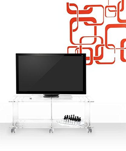 Iplex Design Imago Mobile Porta TV con Ruote, Plexiglass/PMMA ...