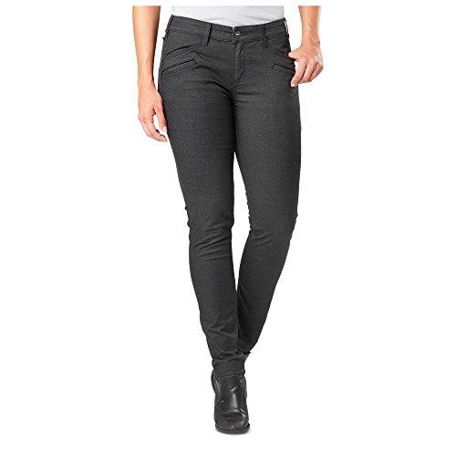 5.11 Tactical Damen Kavallerie Twill Defender-Flex Slim Pants, Device Ready Pockets, Style 64415, Damen, Volcanic, 4-Long -