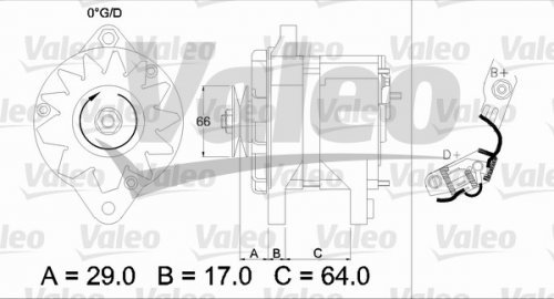 Preisvergleich Produktbild Valeo 436112 Generator