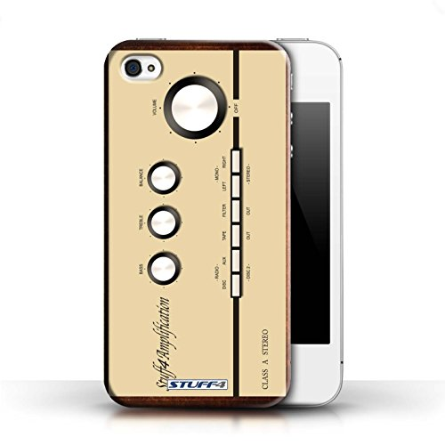 KOBALT® Hülle Case für Apple iPhone 4/4S   VHS-Kassette Video Entwurf   Retro Techik Kollektion Ampere/Verstärker