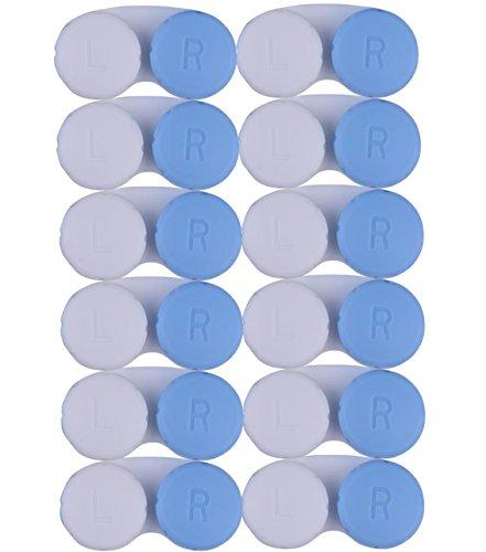 Alpine Choice CAJA de lente de contacto – 12 meses valor paquete de casos de contacto azul