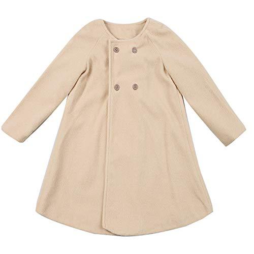 Herbst Winter Mädchen Kinder Baby Outwear Mantel Mantel Jacke Warme Mantel Kleidung (Khaki Schwarz,60) ()