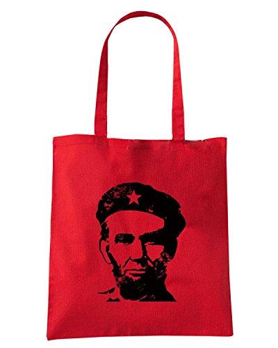 T-Shirtshock - Borsa Shopping FUN0487 AbrahamLincolnTShirt LincolnGuevara Cherry CU 12 (2) Rosso