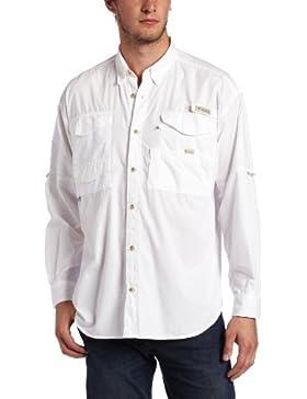 Columbia Camicia Ml Bonehead, bianco