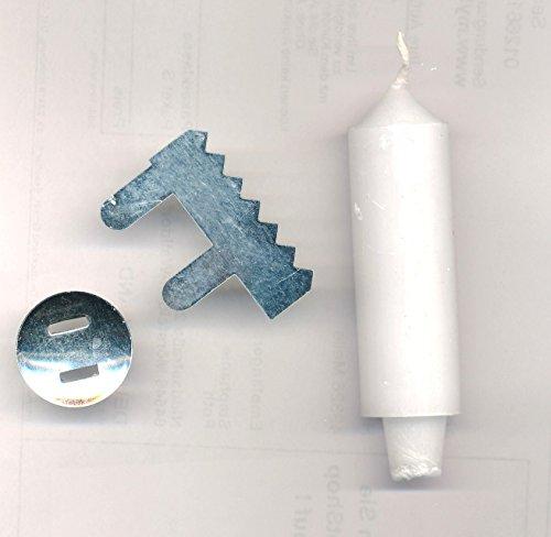 Kerzenhalter aus Metall + Laternekerzen zum Laternen Basteln 10 Stück