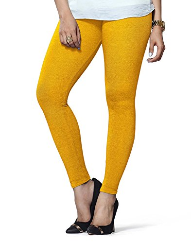 Civilized Womens Cotton Leggings(C108_Yellow_Free Size)