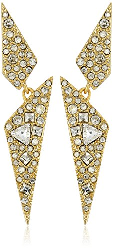 Alexis Bittar Crystal Encrusted Dangling Origami Post Drop Earrings