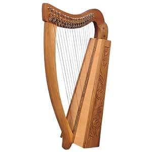 Muzikkon 19leviers de harpe avec de la Trinité à cordes, harpe celtique, harpe irlandaise avec leviers