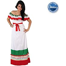 Atosa - Disfraz de mujer largo mejicana, M-L (5660)