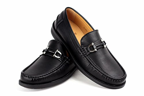 Pour Hommes Chaussures À Enfiler Mocassin Moccasin Élégant Créateur Mode Travail Décontracté Taille 6-12 Noir