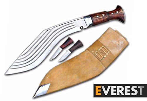 Everest Blade 35 cm Blade Gurkha Messer - 5 Furcher Gurkah Messer-Knvies-Khukuri-Kukri-Knvies Handgefertigt in Nepal