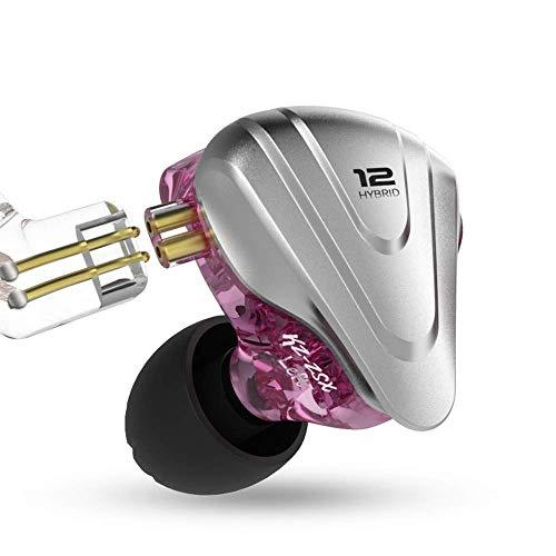 KZ ZSX 5BA + 1DD 6 Driver Hi-Fi ibridi in-ear ibridi con frontalino in lega di zinco, cavo rimovibile a 2 pin da 0,75 mm