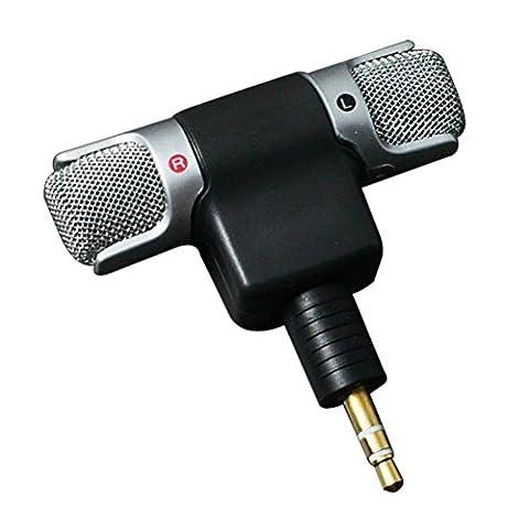 PIXNOR Mini Stereo Mikrofon mit 3,5 mm Mini Jack für