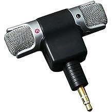 Pixnor Mini microfono stereo con 3,5mm Mini