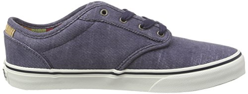 Vans Atwood Deluxe, Sneakers Basses garçon Bleu (Washed Twill/Navy/Marshmallow)