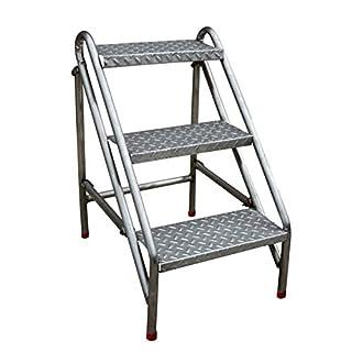 AYLS Household Simple Ladder Stool Stainless Steel Folding Ladder Stool Herringbone Multifunction Moving Ladder