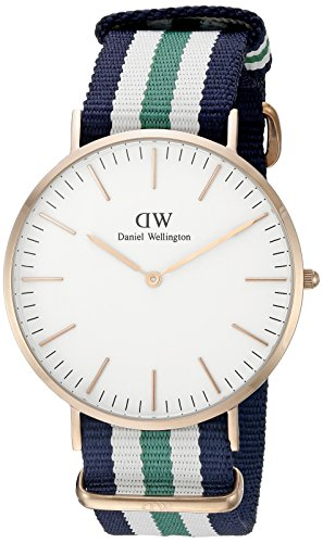 Daniel Wellington Men's Quartz Watch Classic Nottingham 0108DW with Plastic Strap