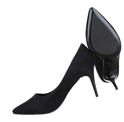 Senhoras De Altos Pretos Saltos Bombas Sapatos PUB1qwPn0