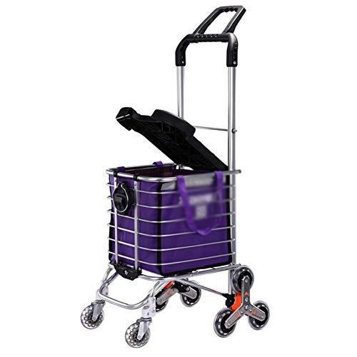 SXRNN Faltbarer Einkaufsroller Faltbarer Einkaufswagen für Senioren mit eingeschränkter Mobilität 35L Große Kapazität