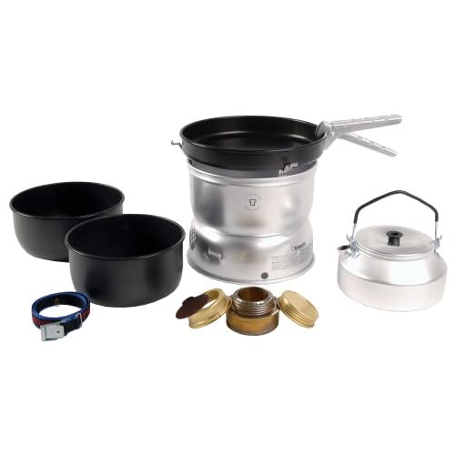 41c0xesVlVL. SS500  - Trangia 25 Non-Stick Cookset with Kettle and Spirit Burner