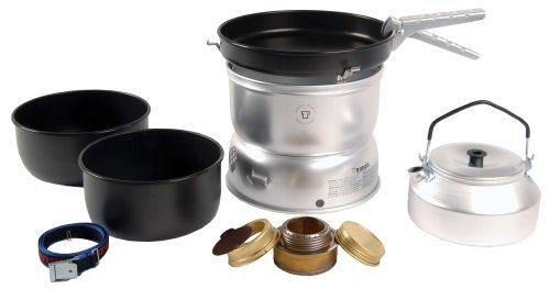 Trangia 25 Beschichtetes Kochset mit Wasserkessel und Spiritus-Brenner -