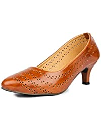 Do Bhai Women's Synthetic Bellies - Brown