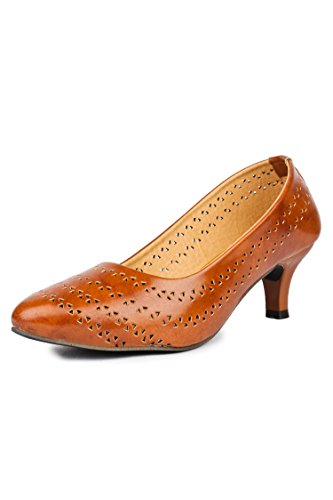 Do Bhai Women's Brown Formal Bellies - 6