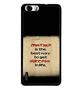 printtech Cool Quotes Success Back Case Cover for Huawei Honor 6 Plus
