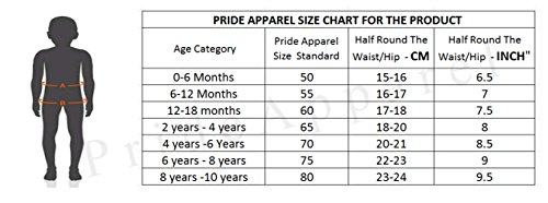 Pride Apparel New Junior Brief, Unisex Baby Girls, Boys Brief Cotton | Comfortable Brief Combo for Boys Pack of 10 (0 Months - 6 Years)