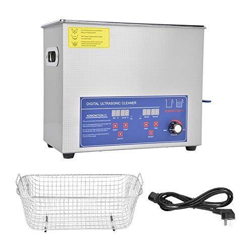 Ultrasonic Cleaner 6L, SUS304 Digital Ultrasonic Cleaner, 40KHz Industria Power Temperatura regolabile Kit di strumenti di pulizia(AU Plug 220V)