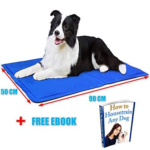 AMZPET Kühlmatte für Hunde, groß, Gel-Pad, Zubehör, damit Ihr Haustier im Sommer kühl bleibt und Gelenkschmerzen reduziert - ideal für Boden oder Bett auf Reisen oder zu Hause