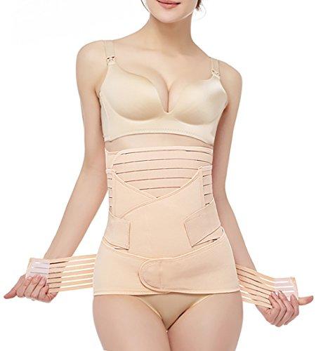 3-in-1-Stützgürtel für den Bauchbereich, nach der Geburt - Beige - Einheitsgröße (Post Csection Bauchband)