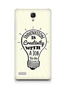 Amez Innovation is Creativity with a Job to do Back Cover For Xiaomi Redmi Note 4G